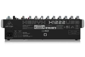 Rückseite des Behringer XENYX 1222